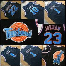Space Jam Movie Jersey Michael Jordan Lola TAZ Bugs Bunny Bill Murray Black