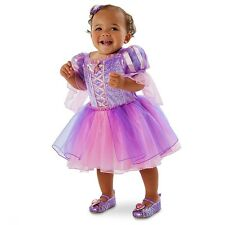 Disney Infant Girl Rapunzel Deluxe Dress up Halloween Costume Set Size 6-24 Mos