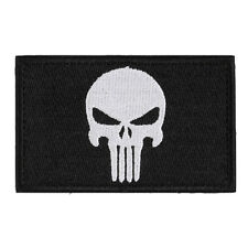 Skulls Double Sided Embroidery Trim Patch US Army Morale Armbands Badge 1Pcs New