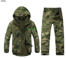 Mens Waterproof military Jacket Hood Coat pants Outdoor camp climb Windbreaker