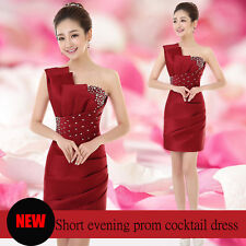 New Sexy Women Bridesmaid Party Prom Cocktail Short Formal Evening Dress Mini Go