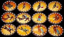 NEW RODEO BUCKLE Genuine LEATHER Bull Bronc Riding Roping Dogging Barrel Racing