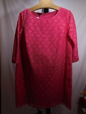 WOMANS PINK DAISY EYELET COTTON DRESS PETITE PLUS 18WP $189