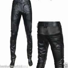 New Men's Designer Tailor Made soft Genuine Lambskin Leather Casual Pant LP020