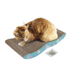 HERITAGE CARDBOARD CAT SCRATCHER SCRATCHING BED PAD SOFA LOUNGE FREE CAT Toy W6
