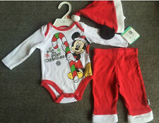 Infant Baby Girls Boys Unisex Romper Pant Set My First Christmas Outfit 3M 6M 9M