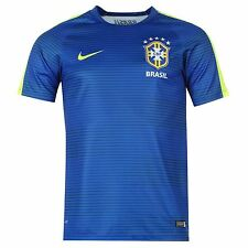 Nike Authentic Brazil Away Jersey Mens Royal Football Soccer Shirt Top