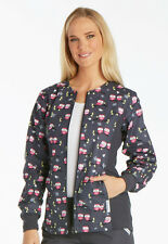 Cherokee Scrubs Zip Front Knit Panel Warm-Up Jacket 2315C MHTO Midnight Owl