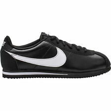 749482-001 NIKE CORTEZ GS CLASSIC LEATHER BLACK/WHITE YOUTH SHOES SNEAKERS E