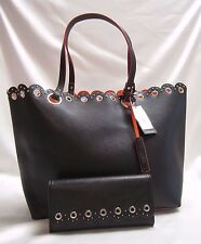 Nine West Scallop Over Sized Tote Shopper with Nine West Scalloped Wallet NWT