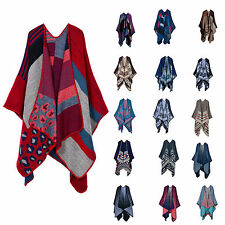 Women's Open Front Starry Sky/Flower/Striped Pattern Scarves Cashmere Cape Wraps