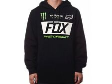 "FOX RACING MONSTER COLLABORATION PULL OVER ""PADDOCK"" MENS HOODY MX MOTORCROSS"