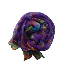 Retro Women Elegant Pashmina Soft Cotton Silk Wrap Shawl Scarf Long Voile Stole