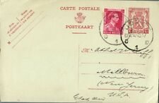 1945 Uprated Postal Stationery Card Belgium To New Jersey Us