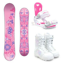 DUB Sola 154cm Women's Snowboard Package M3 Bindings M3 Boots NEW