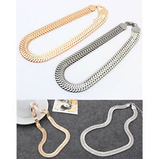 Superb Punk Chunky Celebrity Statement Collar Bib Choker Snake Chain Necklace H