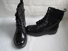New Womens Mudd Lace Up Combat Boots Style SHANE Black  56H