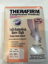 Therafirm Compression Anti-Embolism Knee High Unisex OpenToe 18mmHg White