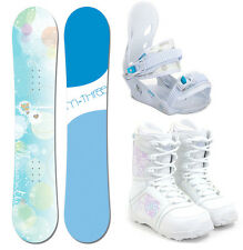 M3 Krystal 150 Womens Snowboard+Matching Bindings+M3 Venus Boots NEW