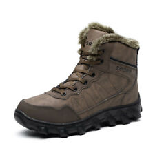 Winter snow Mens Casual leather Warm Ankle Boots fur outdoor hike Sneakers Shoes