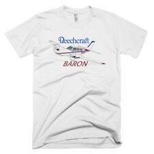 Beechcraft Baron (Blue/Maroon) Custom Airplane T-Shirt - Personalized with Your