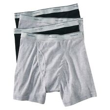12 Pairs of Fruit of the Loom Men Boxer Briefs Black & Gray