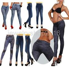 Women Sexy Skinny Jeggings Jeans Design Leggings Pencil Pants Ladies Trousers