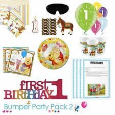 Winnie the Pooh 1st Birthday Party Tableware Bumper Pack 2