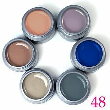 6pcs Pure UV Gel Color Soak off Gel Nail Polish Extenstion Manicure Nail Art Tip