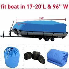16 17 21 24' Trailerable Fish Ski Boat Cover 600D V-Hull/Square Beam Oxford Bag