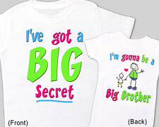 """Pregnancy ANNOUNCEMENT Tee for Big Brother """"I HAVE a BIG SECRET"""" T-Shirt"""