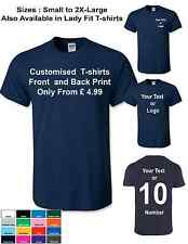 CUSTOM Personalised DESIGN YOUR OWN T SHIRTS  STAG HEN HOLIDAY  Gift T-Shirts