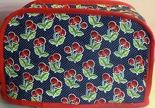 Quilted 2-4 Slice Toaster Cover Cherry Made to Order SEND YOUR MEASUREMENTS!!