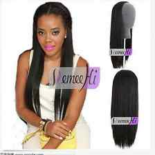 "16""-28"" 160g-280g Machine weft cap 100% Human Hair 3/4 Half Wig pretty easy use"