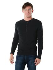 NWT AUTHENTIC JACK SPADE MEN'S GILFORD CHARCOAL HENLEY S, L, XL RETAIL $98