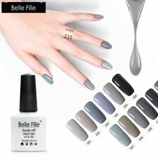 BELLE FILLE Gray UV Color Nail Art Gel Nails Polish Soak-off UV LED Gel Varnish