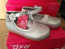 TODDLER GIRLS KIDS SILVER SPARKLE PARTY BRIDESMAID WEDDING FLOWER GIRL SHOES