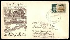 Canada 1958 Quebec Settlement Rose Craft Cacheted FDC Sc 379