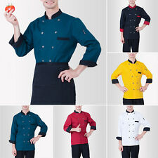 Chef Coat Restaurant Dining Hall Uniforms Cook Long Sleeve Jacket Kitchener Tops