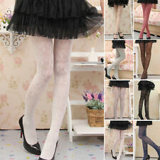 Lady Women Girl Delicate Lace Splicing Hollow Pantyhose Stocking Tights Socks
