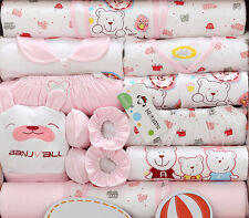 18pcs/set Cotton Newborn Baby Girl clothing Set Cute infant Outfit Suit Gift Bag