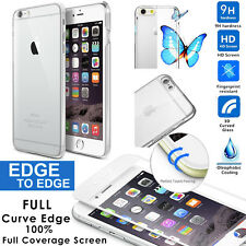 HD Curved Edge Tempered Glass Screen Protector For iphone 6 6s Crystal Hard Case
