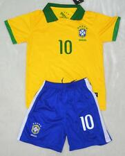 NO.10 NEYMAR JR 2014 CHILDS BOYS BRAZIL  HOME shirt and short 3-14 YEARS