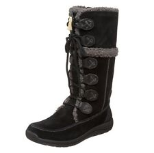 Timberland Zesta Suede 84873 New Toddler Baby Black Tall Winter Boots Shoes