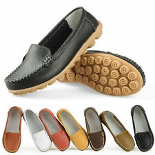 Lady Mother Leather Shoes Slip-on Ballet Flat Moccasin New Chic Anti-skid Loafer