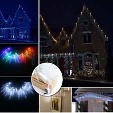 40 LED Icicle Falling Dropping String Fairy Xmas Lights Christmas Tree Lamp Ices