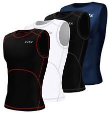 Mens Compression Armour Base Layer Tops Running Sleeveless Sports Skin Shirt