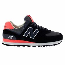 New Balance 574 Core Plus Black Grey Womens Trainers