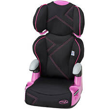 """Evenflo Big Kid Amp Booster Car Seat, Pink Angles 30 to 110 lbs and 38"""" to 57"""""""