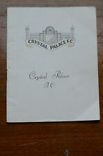 Crystal Palace  v Bolton Wanderers  25th August 1965 programme good condition